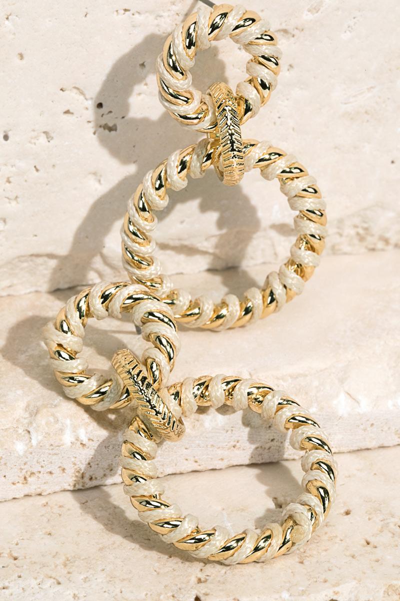 Fine Thread Twist Earrings - orangeshine.com