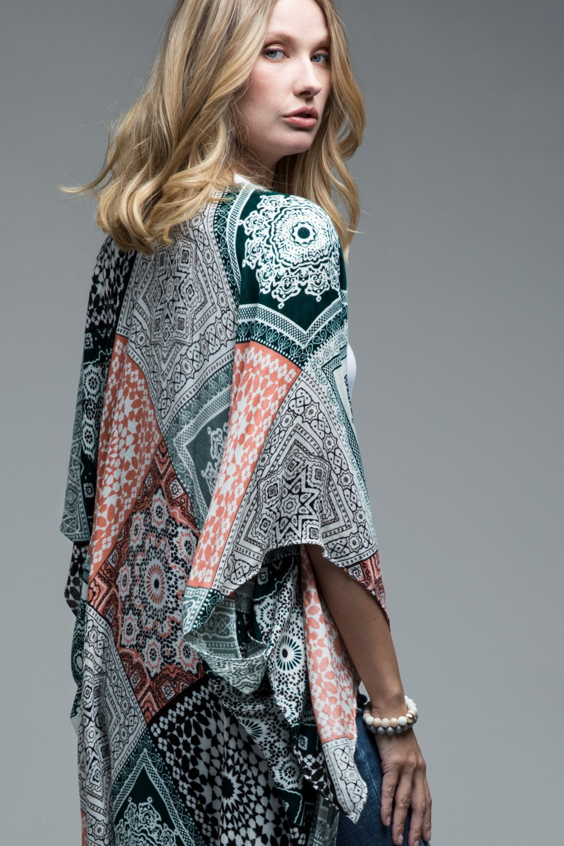 Moroccan Tile Kimono - orangeshine.com