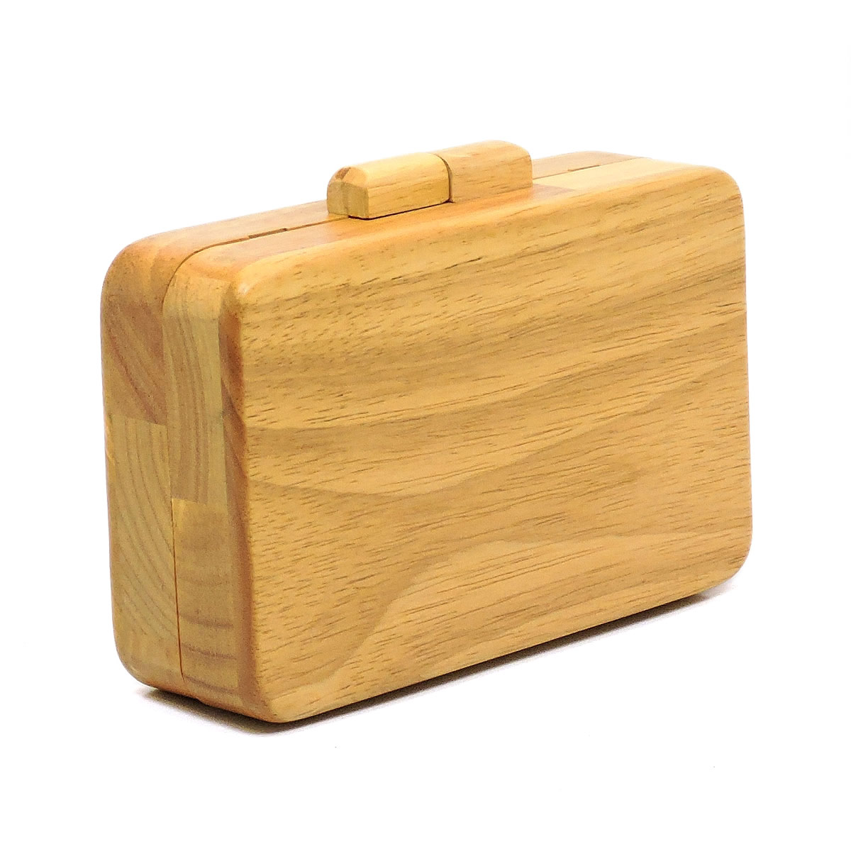 Wooden Box Clutch Purse Shoulder Bag - orangeshine.com