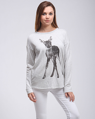 REINDEER FRENCH TERRY TOP - orangeshine.com