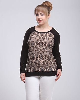 PAISLEY PRINT DOUBLE TONE TOP - orangeshine.com