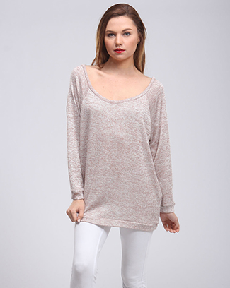 SCOOP NECK SWEATER TUNIC - orangeshine.com