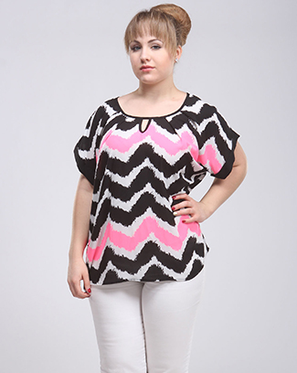 CHEVRON PRINT TOP - orangeshine.com