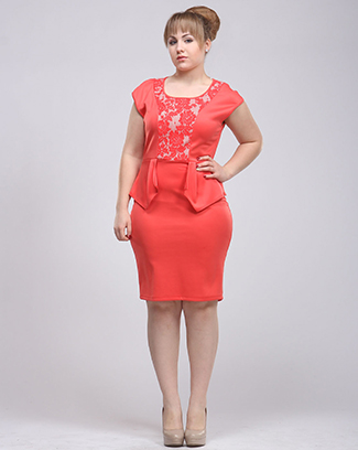 LACE PEPLUM DRESS - orangeshine.com