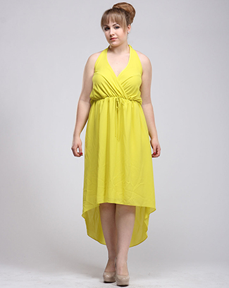 HI-LOW SURPLICE DRESS - orangeshine.com