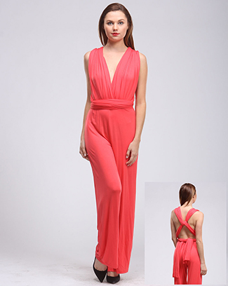 SOLID CONVERTIBLE JUMPSUIT - orangeshine.com