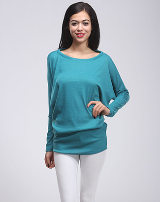 DOLMAN RIBBED KNIT TOP - orangeshine.com