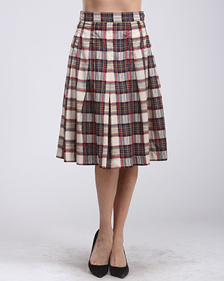 A-LINE PLAID SKIRT - orangeshine.com