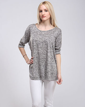 MINERAL WASHED ROUND NECK TOP - orangeshine.com