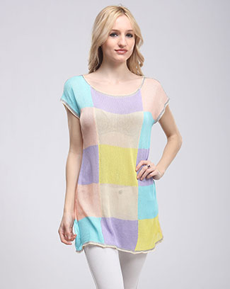 MU LTICOLOR TUNIC TOP - orangeshine.com