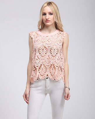 CROCHET SLEEVLESS TOP - orangeshine.com