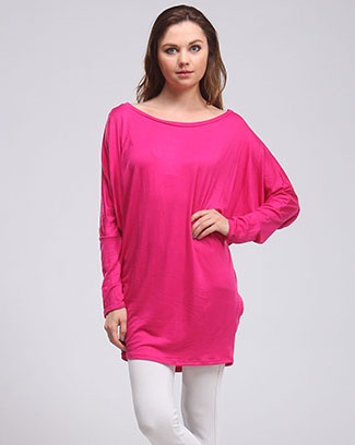 SOLID DOLMAN LOSE FIT TOP - orangeshine.com