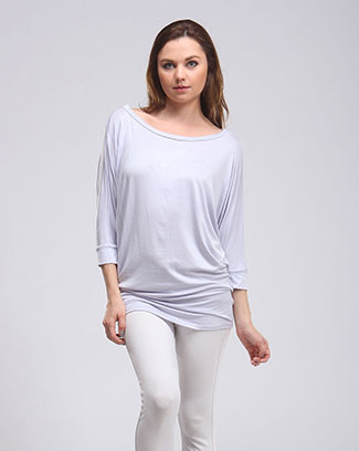 SOLID DOLMAN TUNIC TOP - orangeshine.com