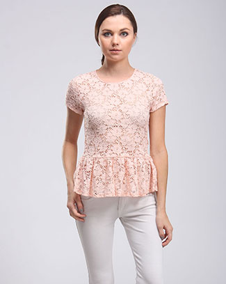 LACE PEPLUM TOP - orangeshine.com