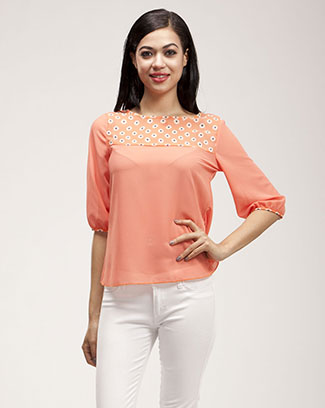 FLORAL SOLID TOP - orangeshine.com
