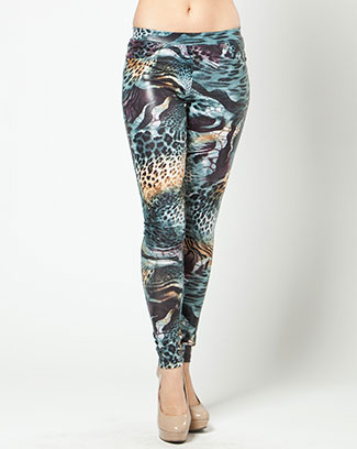 ANIMAL PRINT MESH LEGGINGS - orangeshine.com