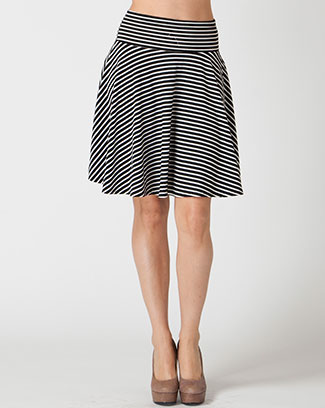 STRIPE SKIRT - orangeshine.com