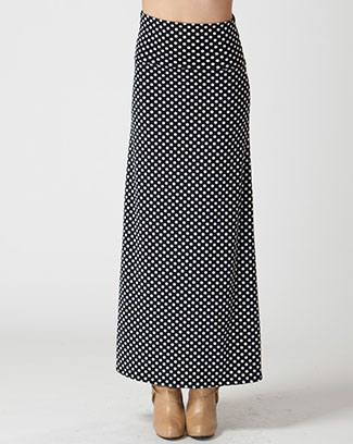 POLKA DOT MAXI SKIRT - orangeshine.com