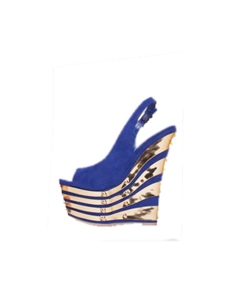 OPEN TOE GOLD FINISH WEDGES - orangeshine.com