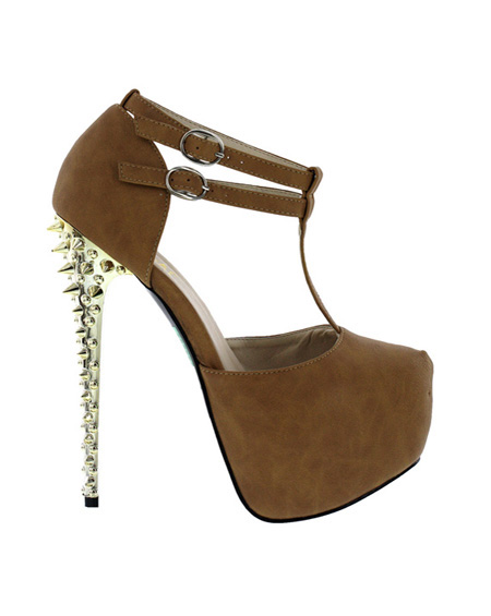 ANKLE STRAP WEDGES WITH SPIKEY HEELS - orangeshine.com