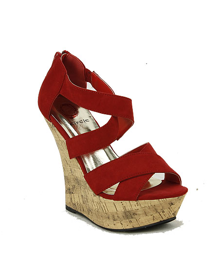 OPEN TOE STRAPPY WEDGE - orangeshine.com