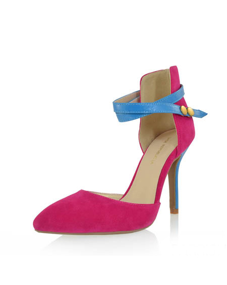 POINTED HEEL WITH ANKLE STRAP - orangeshine.com