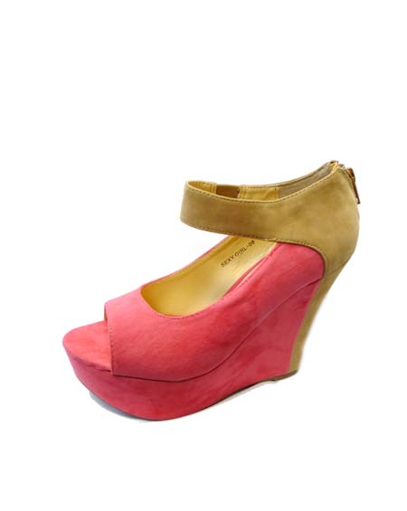 PEEP TOE SUEDE WEDGE - orangeshine.com