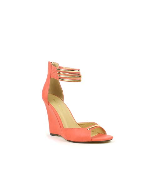 OPEN TOE ANKLE STRAP WEDGE - orangeshine.com