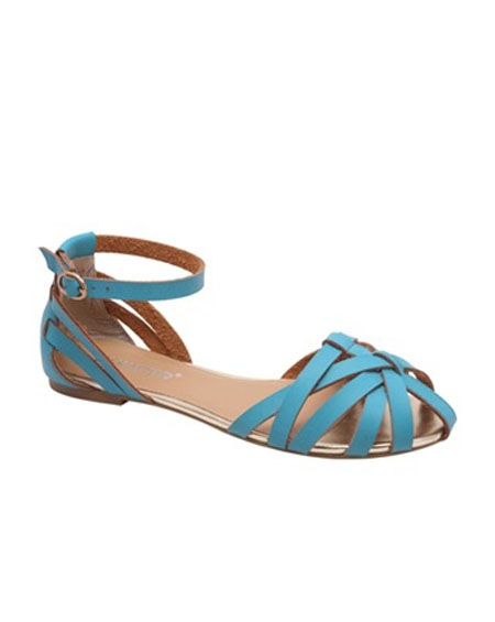 STRAPPY SANDAL WITH ANKLE STRAP - orangeshine.com