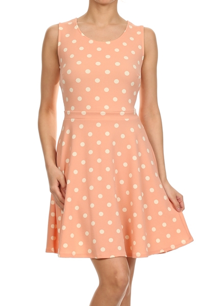 Polka dot dress - orangeshine.com