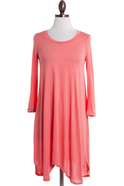 Modal Coral Dress - orangeshine.com
