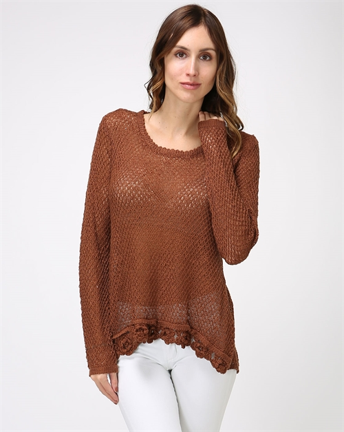 Open Knit Lounge Sweater - orangeshine.com