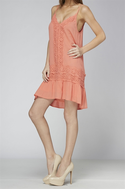 LACE TUNIC DRESS - orangeshine.com