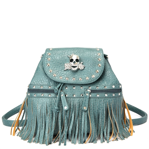 SKULL WITH FRINGE BACKPACK - orangeshine.com