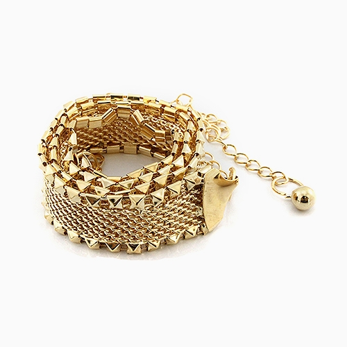 PYRAMID STUD CHAIN BELT 47L - orangeshine.com