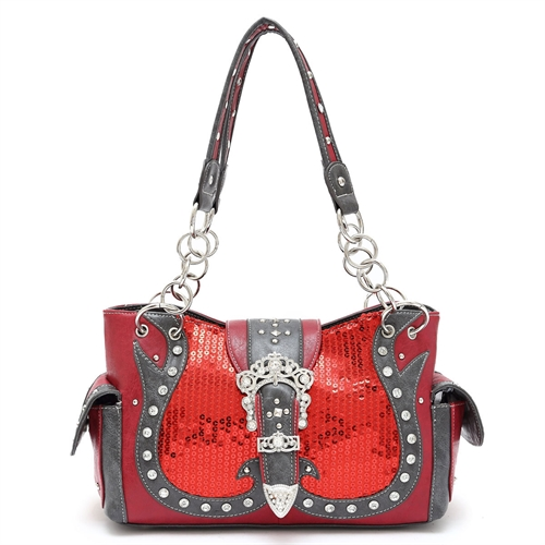 SEQUIN AND STONES SHOULDER BAG - orangeshine.com