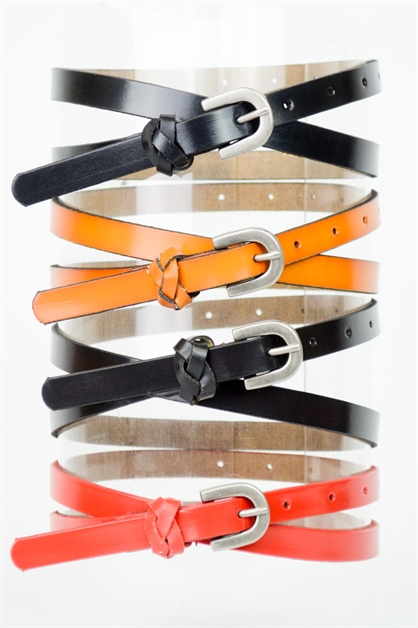 Skinny Leather Belt - orangeshine.com