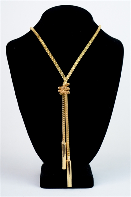 ROPE KNOT NECKLACE - orangeshine.com
