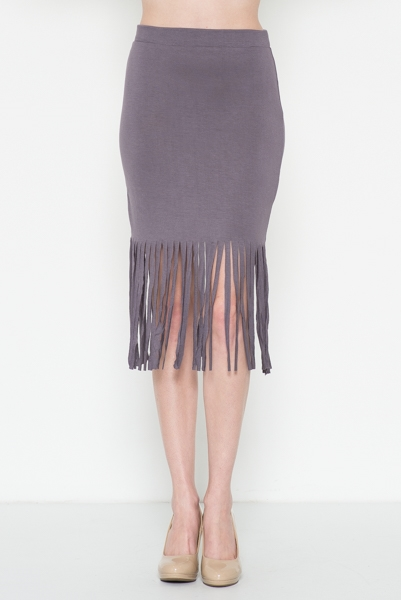 Bottom Fringe Skirt - orangeshine.com