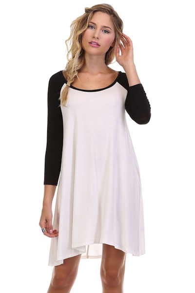 3/4 Sleeve Baseball Dress - orangeshine.com