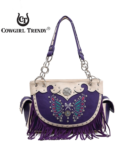Butterfly Fringe Satchel Bag - orangeshine.com