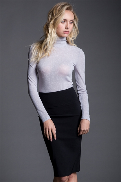 TURTLENECK LONGSLEEVE BODYSUIT - orangeshine.com
