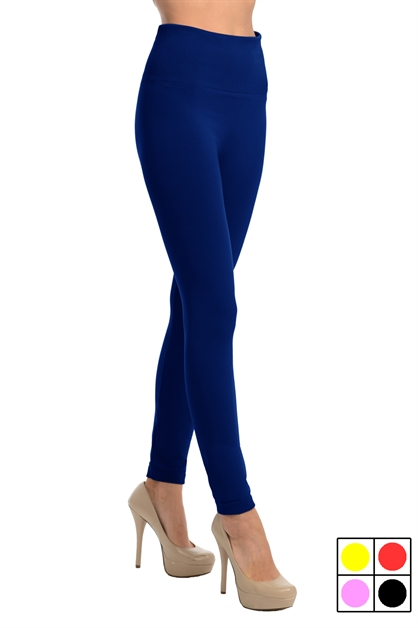 High Waist Fleece Leggings - orangeshine.com