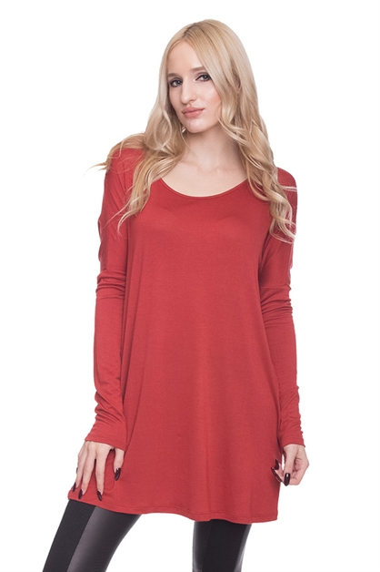 LOOSE LONG SLEEVE KNIT TOP - orangeshine.com
