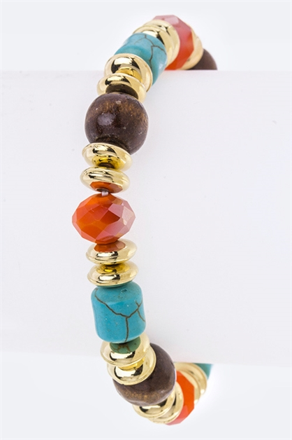 Beads Stretch Station Bracelet - orangeshine.com