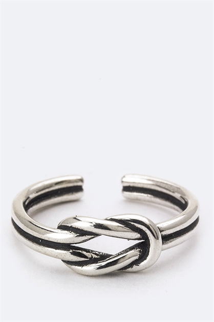 Sterling Silver Love Knot Ring - orangeshine.com