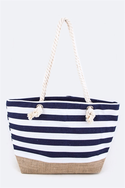 Nautical Stripes Fashion Tote - orangeshine.com