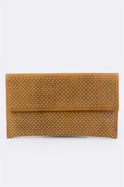 Micro Studded Clutch - orangeshine.com