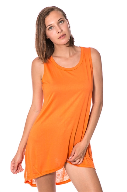 SLEEVELESS JERSEY TUNIC TOP - orangeshine.com