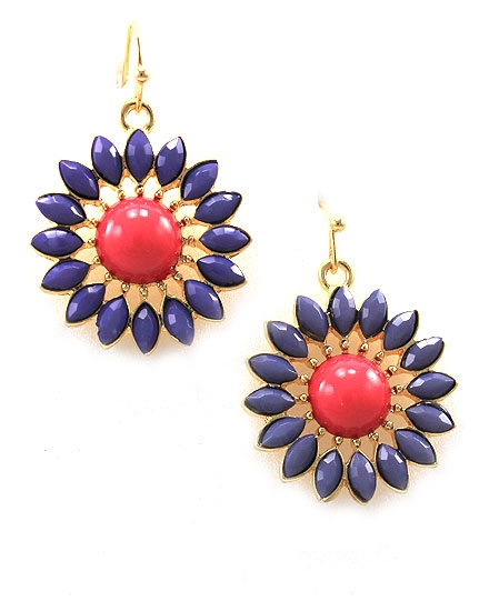 Flower Violet Earring - orangeshine.com
